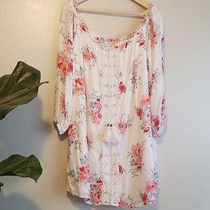 Spring Time Bare Shoulder Mini Dress